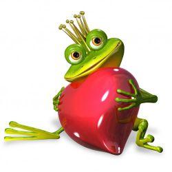 Möbelfolie Verliebter Froschkönig mit großem Herz – Bild 3
