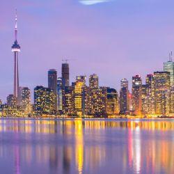 Möbelfolie Toronto Skyline - Kanada am Abend – Bild 3
