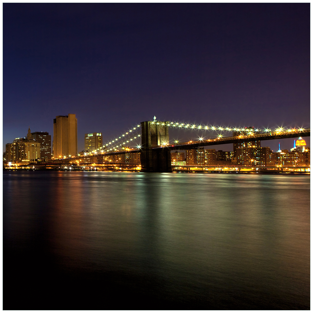 Möbelfolie New York Skyline - Brooklyn Bridge und Manhattan am Abend – Bild 1