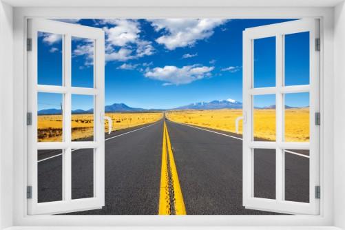 Acrylglasbild Route 89 in Arizona - Am Ende der Horizont
