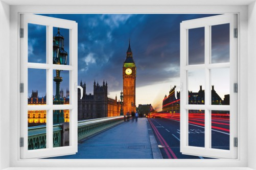 Acrylglasbild London- Big Ben bei Nacht