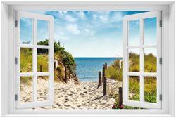 Acrylglasbild Auf dem Sandweg zum Strand