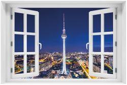 Acrylglasbild Fernsehturm Berlin bei Nacht