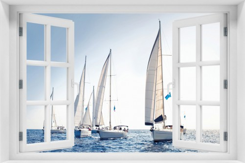 Acrylglasbild Segelschiff auf dem Meer