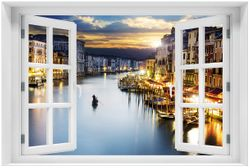 Acrylglasbild Canal Grande in Venedig am Abend mit untergehender Sonne