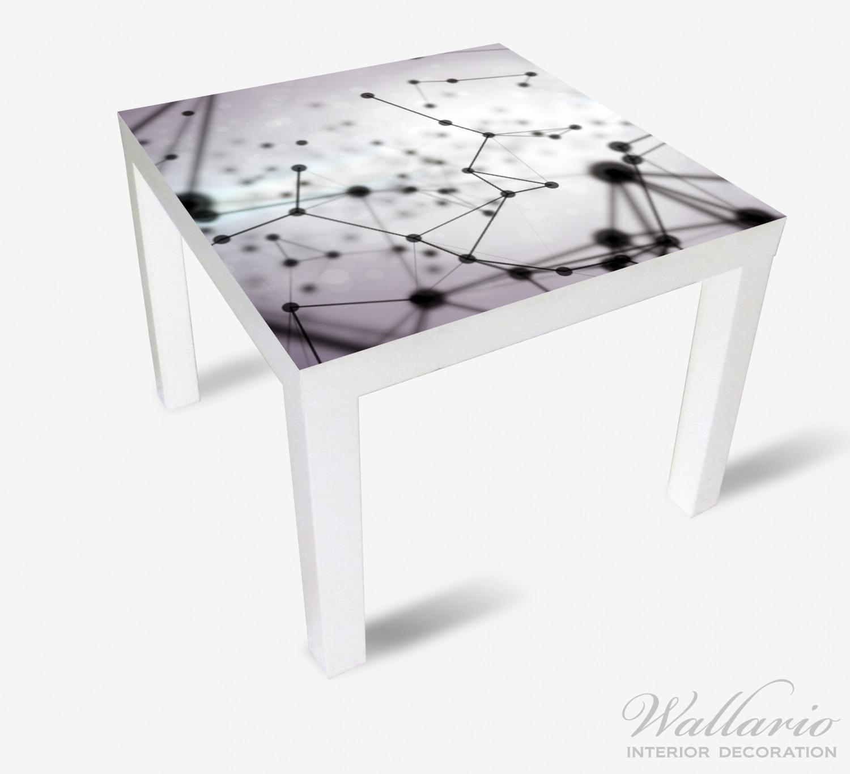 Ikea Küche Hintergrund: Möbelfolie 3D Partikel In Schwarz Vor Hellem Hintergrund