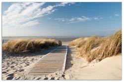 Herdabdeckplatte Auf dem Holzweg zum Strand – Bild 1