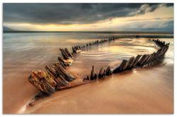 Herdabdeckplatte Bootswrack in Irland am Strand – Bild 1