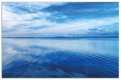 Herdabdeckplatte Blaue Meeresbucht in Italien mit Spiegelung im Wasser – Bild 1