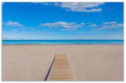Herdabdeckplatte Auf dem Holzweg zum blauen Meer – Bild 1
