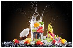Herdabdeckplatte Tropische Früchte in einem erfrischenden Drink – Bild 1