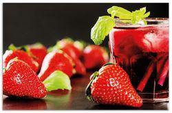 Herdabdeckplatte Erdbeer-Mojito - Frische Erdbeeren – Bild 1