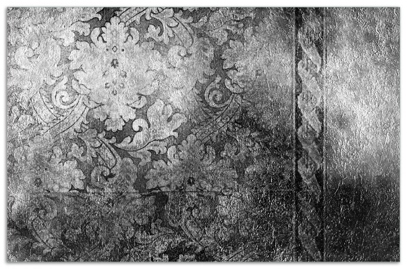 Herdabdeckplatte Schnörkelmuster in grau – Bild 1