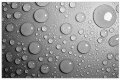 Herdabdeckplatte Wassertropfen in schwarz weiß – Bild 1