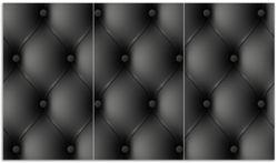 Herdabdeckplatte Schwarze Ledertür