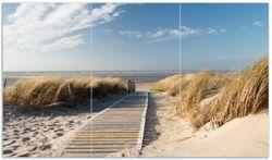 Herdabdeckplatte Auf dem Holzweg zum Strand
