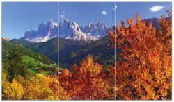 Herdabdeckplatte Herbst im Gebirgstal unter blauem Himmel – Bild 1