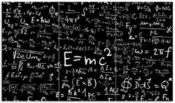 Herdabdeckplatte Mathematische Formeln – Relativitätstheorie