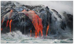 Herdabdeckplatte Lavastrom ins Meer – Bild 1