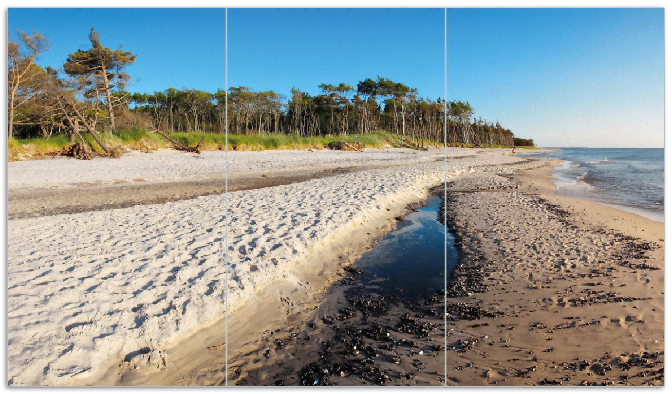 Herdabdeckplatte Einsamer Strand am Meer - Blauer Himmel – Bild 1
