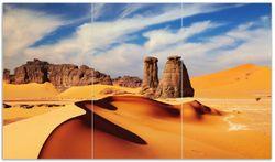 Herdabdeckplatte Felsen und Sand in der Sahara Wüste – Bild 1