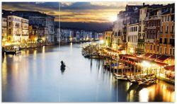 Herdabdeckplatte Canal Grande in Venedig am Abend mit untergehender Sonne – Bild 1