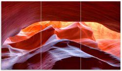 Herdabdeckplatte Antelop Canyon USA  Kalksandsteingebirge in leuchtenden Farben – Bild 1