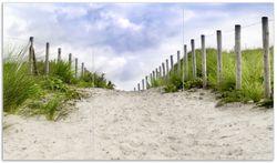 Herdabdeckplatte Auf dem Weg zum Strand durch Dünen – Bild 1