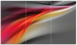 Herdabdeckplatte Schwarz rot pink - Abstraktes Design