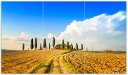Herdabdeckplatte Italien - Toskana unter blauem Himmel  einsame Farm – Bild 1