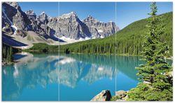 Herdabdeckplatte Tiefblauer See mit Bergpanorama und Wäldern – Kanada – Bild 1