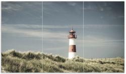 Herdabdeckplatte Leuchtturm auf der Düne am Strand