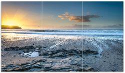 Herdabdeckplatte Einsamer Strand in Cornwall  England