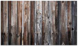 Herdabdeckplatte Alte Holzwand - Holzplanken in grau und braun