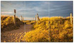 Herdabdeckplatte Düne am Strand bei Sonnenuntergang in Frankreich