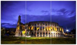 Herdabdeckplatte Italien bei Nacht - Kollosseum in Rom, beleuchtet am Abend