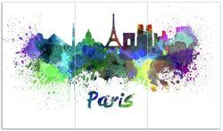 Herdabdeckplatte Städte als Aquarell - Skyline von Prais