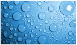 Herdabdeckplatte Wassertropfen auf Blau