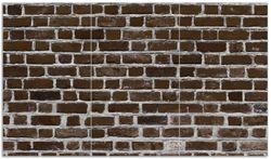 Herdabdeckplatte Ziegelsteinwand in braun - Backsteine