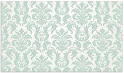Herdabdeckplatte Königliche Schnörkelei in weiß und grün