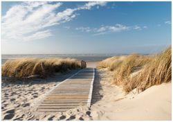 Wandbild Auf dem Holzweg zum Strand – Bild 1