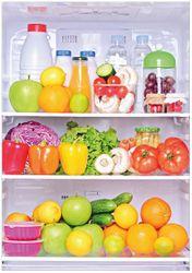 Wandbild Offener gefüllter Kühlschrank – Bild 1