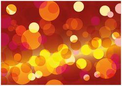 Wandbild Rote  gelbe und orange Kreise - harmonisches Muster – Bild 1