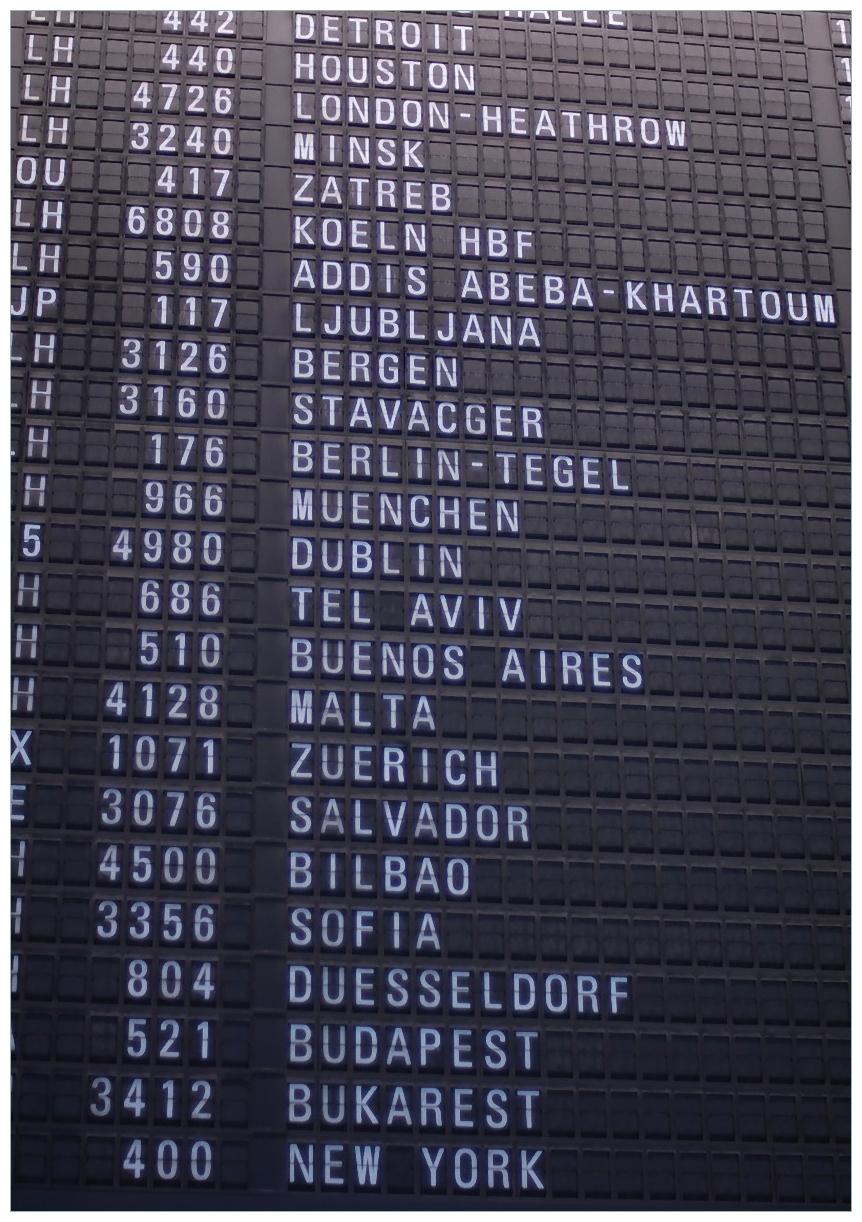 Wandbild Flughafen Abflugtafel – Bild 1