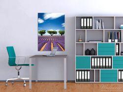 Wandbild Abstraktes lila Blumenfeld mit Lavendel – Bild 2