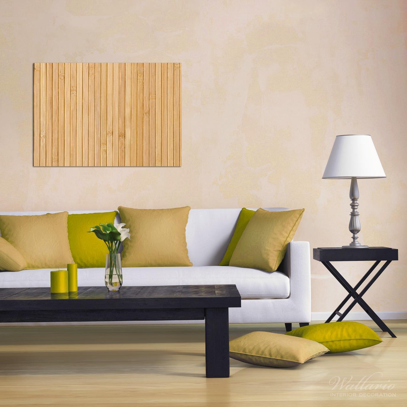 Wandbild Holzpanele hell – Bild 2