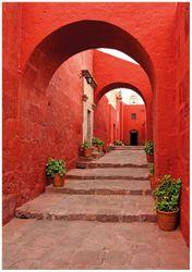 Wandbild Roter Torbogen – Bild 1