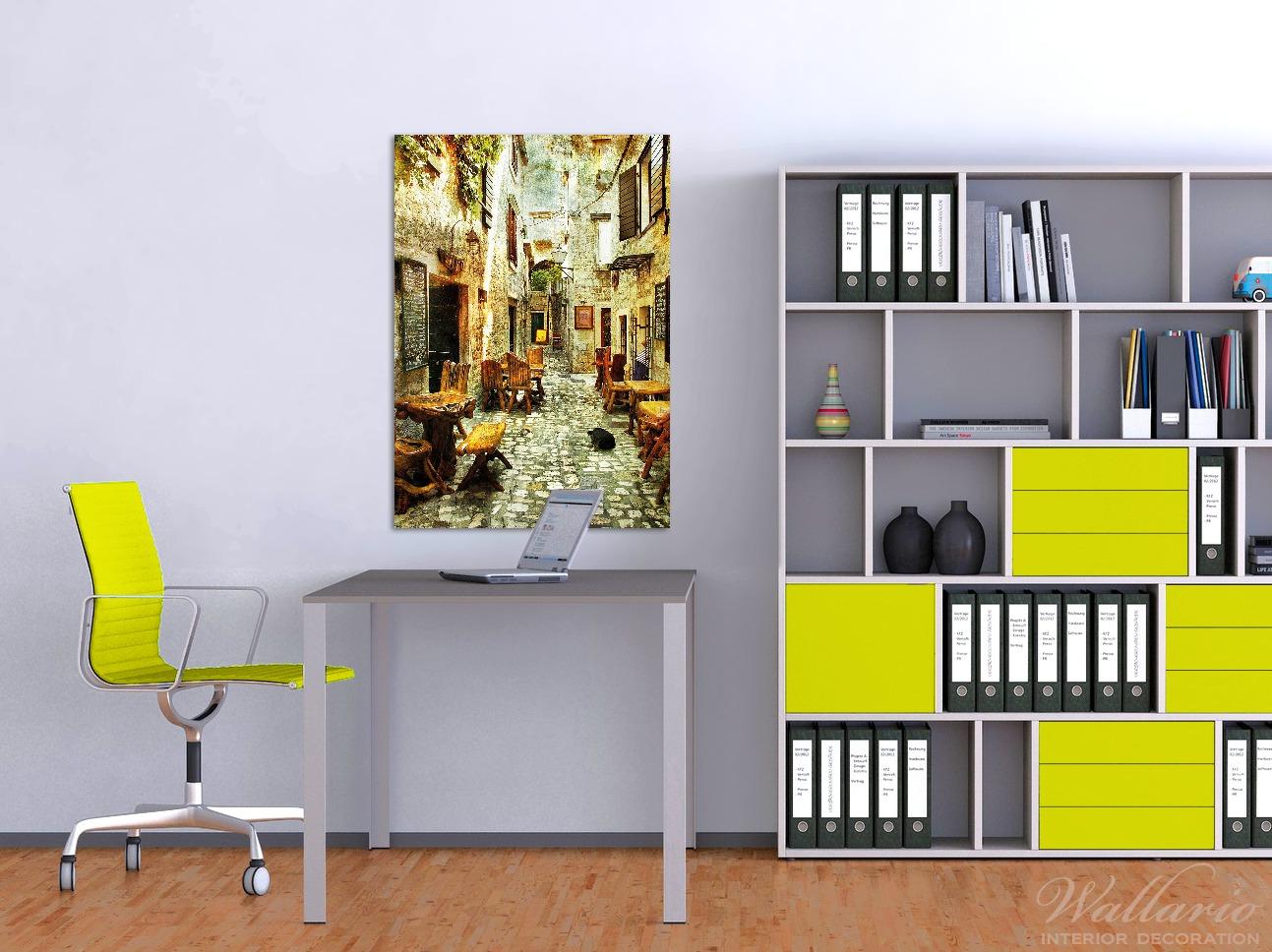 Wandbild Italienische kleine Gasse – Bild 2