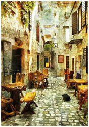 Wandbild Italienische kleine Gasse – Bild 1