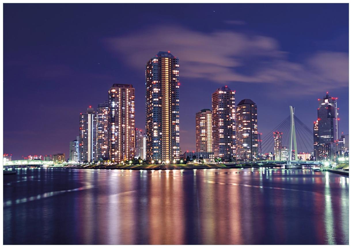 Wandbild Tokyo- Skyline bei Nacht – Bild 1